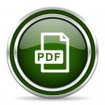 pdf file green glossy web icon