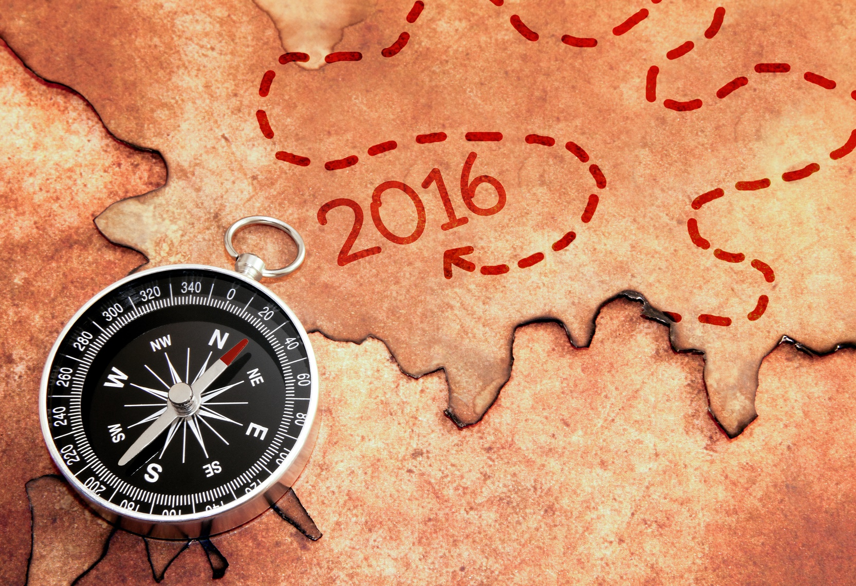 97601091 - Der Weg ins Jahr 2016 © stockpics